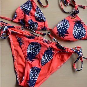 Roxy Colada Tiki Tri Tie Side Bikini Set